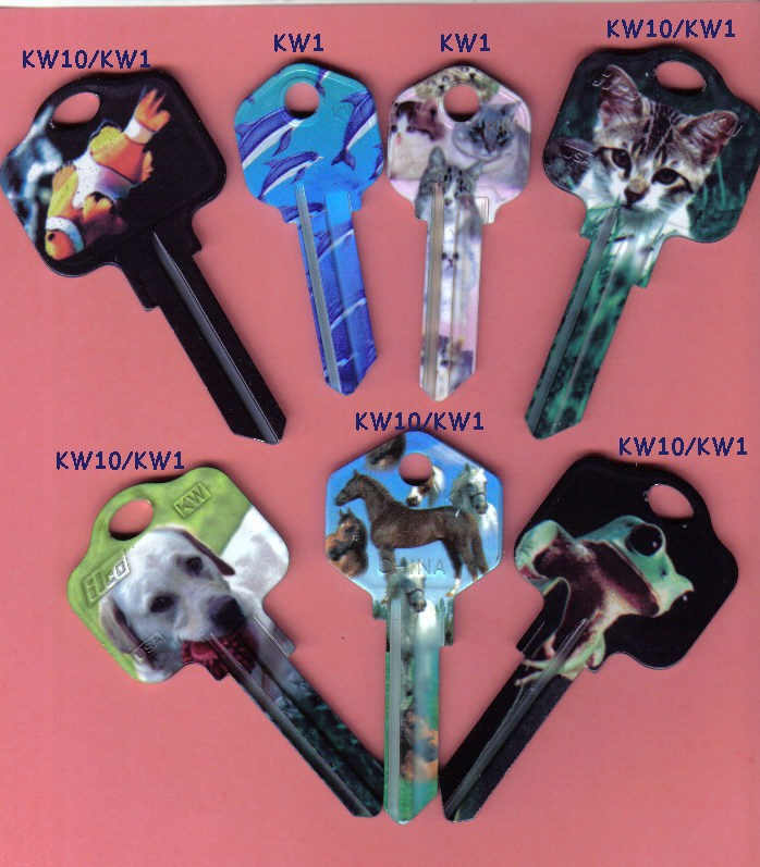 Nature, pet and animal print keys now available from J.J's Locksmith Service