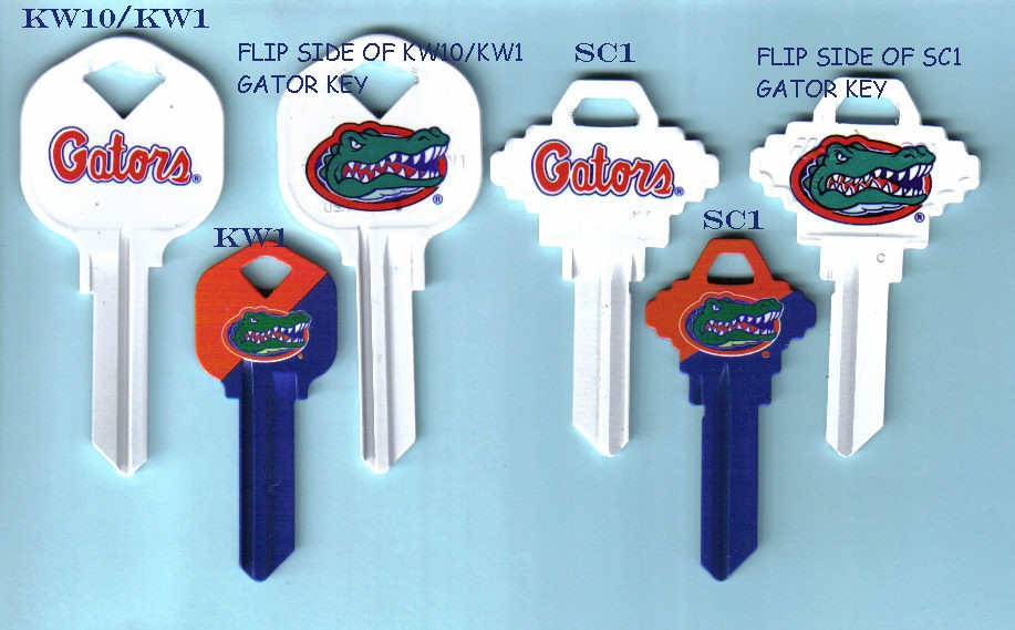 Officially licensed team keys from JJ's Locksmith Services
