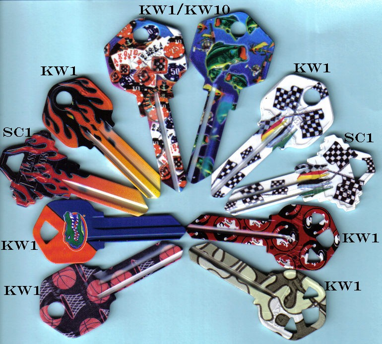 Express your sportitude with custom cut keys exclusively from J.J.'s Locksmith Service<br>www.jjlocksmith.com